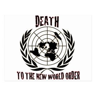 MUERTE AL NUEVO ORDEN MUNDIAL TARJETAS POSTALES
