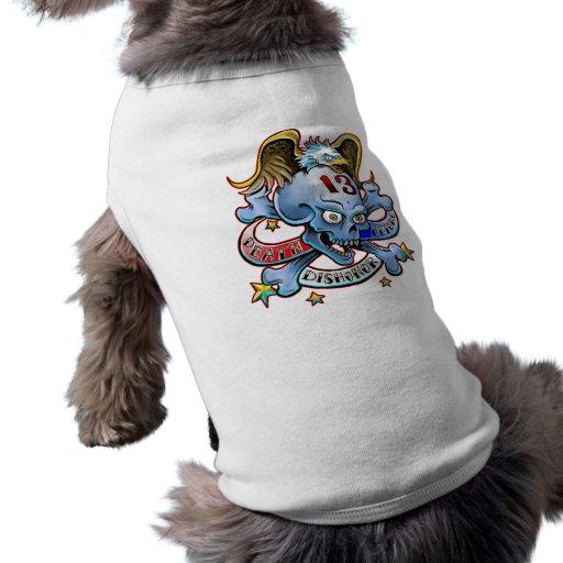Muerte antes de la deshonra con Eagle Camisetas Mascota