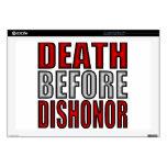 Muerte antes de la deshonra calcomanía para 43,2cm portátil