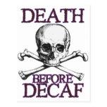 Muerte antes del Decaf Postal