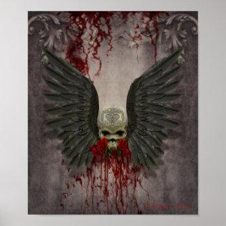Muerte coa alas, decaimiento de los amores póster