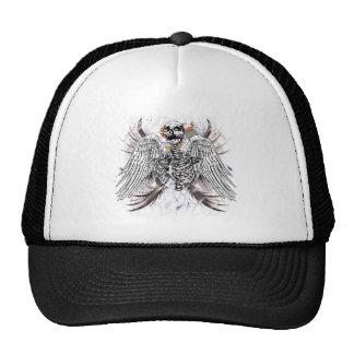 Muerte coa alas gorras de camionero