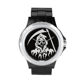 Muerte con la guadaña reloj de mano