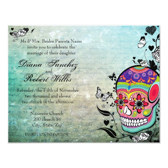 Muerte Day of the Dead Calaveras Sugar Skull Card