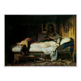 Muerte de Cleopatra, Jean-Andre 1874 Rixens Póster