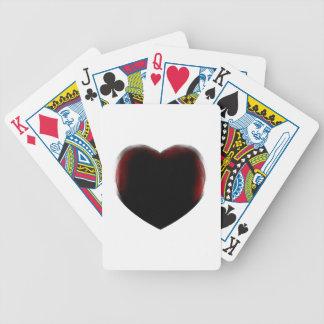 Muerte de corazón barajas de cartas