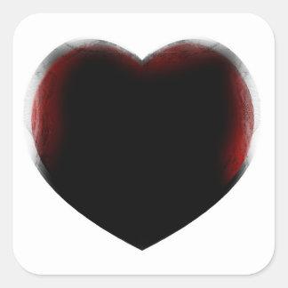 Muerte de corazón calcomania cuadrada personalizada