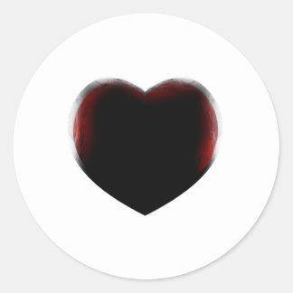 Muerte de corazón pegatinas redondas