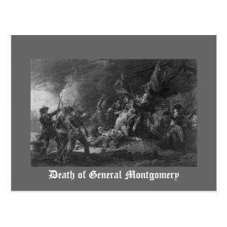 Muerte de general Montgomery Postales
