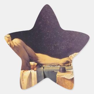 Muerte de Jacques-Louis David de Marat Pegatina En Forma De Estrella