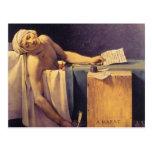 Muerte de Jacques-Louis David de Marat Postal