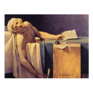 Muerte de Jacques-Louis David de Marat Postales