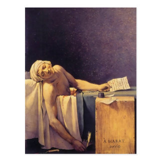 Muerte de Jacques-Louis David de Marat Tarjeta Postal