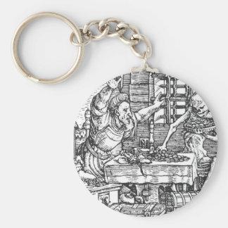 Muerte de la danza de la muerte Hans Holbein Llavero Redondo Tipo Pin