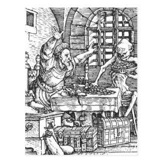 Muerte de la danza de la muerte Hans Holbein Postal