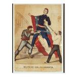 Muerte de la guerra civil de coronel Ellsworth Cur Postales