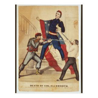 Muerte de la guerra civil de coronel Ellsworth Postales