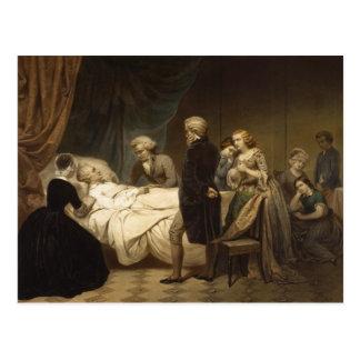 Muerte de la postal de George Washington
