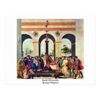 Muerte de Lucretia de Lippi Filippino Postal