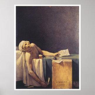 Muerte de Marat, 1793 Póster
