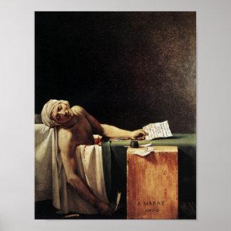 Muerte de Marat Póster