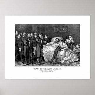 Muerte de presidente Lincoln Póster