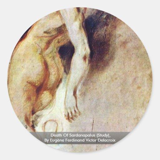 Muerte de Sardanapalus (estudio) Pegatina Redonda