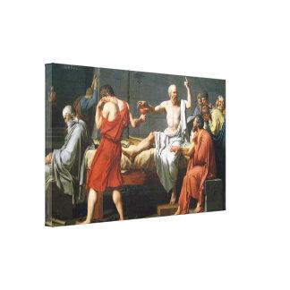 Muerte de Sócrates de J.L. David - en ~ de la lona Impresiones De Lienzo