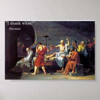 muerte de Sócrates Póster