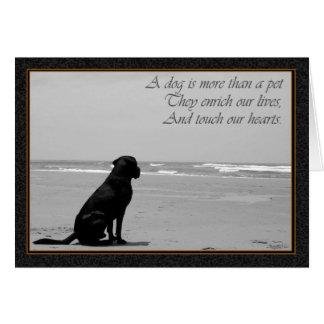 Muerte de un mascota, muerte del perro, triste, tarjeta de felicitación