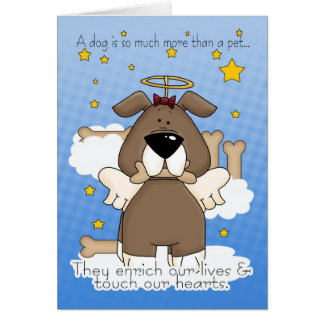 Muerte de una tarjeta de condolencia del perro - p