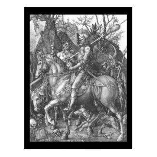 Muerte del caballero de Albrecht Durer y el diablo Postales