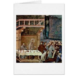 Muerte del caballero de Celano por el amo del cruc Tarjeta