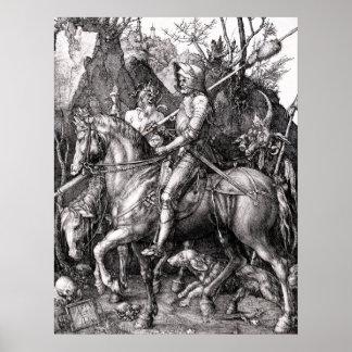 Muerte del caballero de Durer y el poster del diab