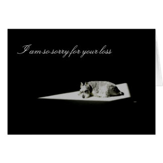 Muerte del mascota, condolencia tarjeta de felicitación