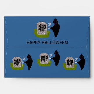 Muerte en el sobre del personalizado de Halloween