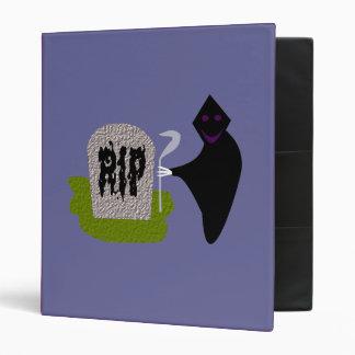 Muerte en la carpeta de Halloween del cementerio