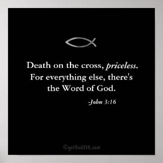 Muerte en la cruz, gotGod316.com inestimable Póster