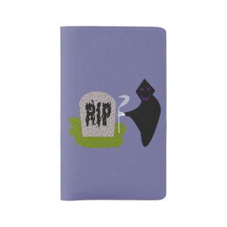 Muerte en la cubierta del cuaderno de Halloween Funda Para Libreta Y Libreta Grande Moleskine