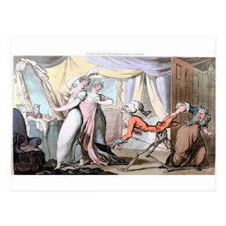 Muerte en la postal del gabinete de señora de las