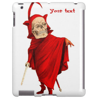 Muerte esquelética de Halloween Fausto del cráneo  Funda Para iPad
