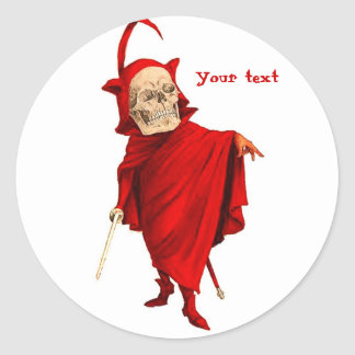 Muerte esquelética de Halloween Fausto del cráneo Pegatina Redonda