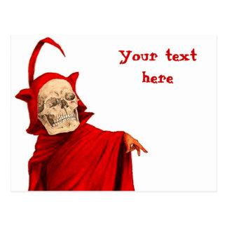 Muerte esquelética de Halloween Fausto del cráneo Postal