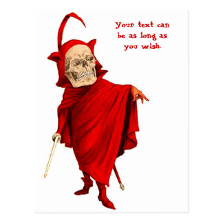 Muerte esquelética de Halloween Fausto del cráneo  Tarjetas Postales