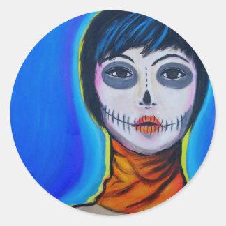 Muerte Moderna Round Sticker