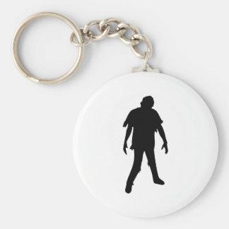 Muerte muerta del zombi de la película de terror llavero redondo tipo pin
