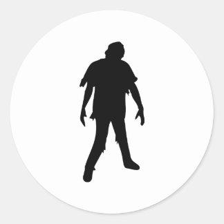 Muerte muerta del zombi de la película de terror pegatina redonda