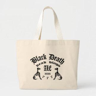 Muerte negra 777 - cerveza inglesa muerta del bolsa tela grande