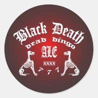 Muerte negra 777 - cerveza inglesa muerta del pegatina redonda