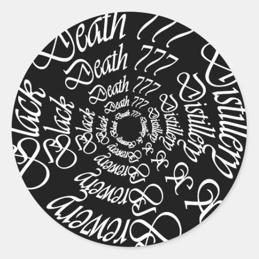 Muerte negra 777 - círculos pegatinas redondas
